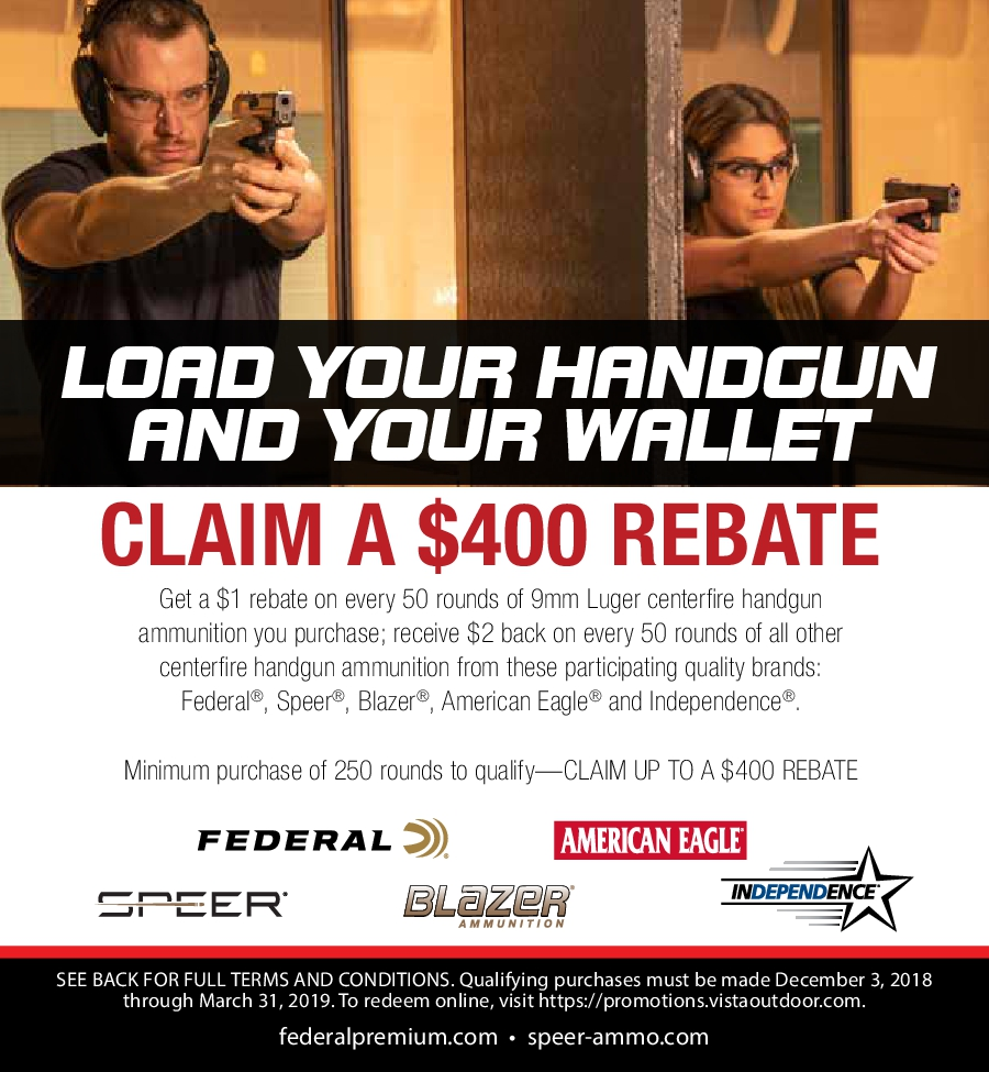 American Eagle Rebate >> Outdoor Brands Promotion Center Load Your Handgun And Your